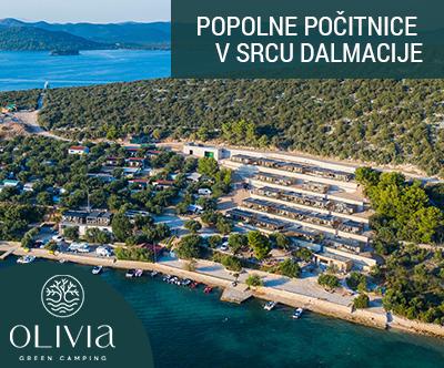 Olivia Green Camping: eko mobilne hišice v Dalmaciji