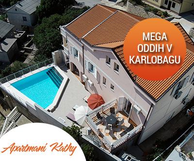 Apartmaji Kathy, Karlobag: mega počitnice