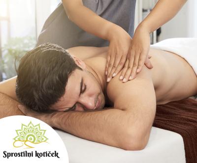 Salon Sprostilni kotiček: čokoladna masaža, 60 min