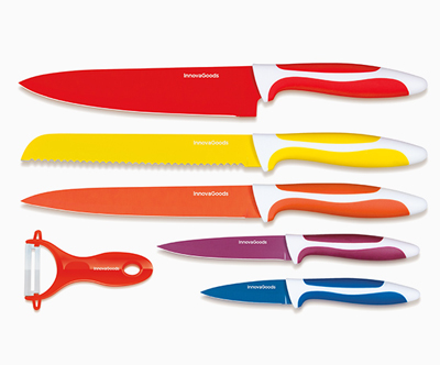 Odlicen set keramicnih nožev in lupilnikov InnovaGoods