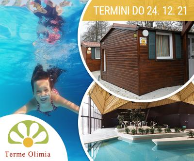 Kamp Natura 5*; Terme Olimia: oddih v mobilnih hiškah