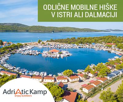 Mobilne hiške Istra in Dalmacija: poletni oddih