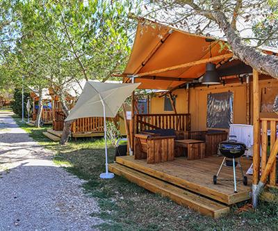 Adriatic Kamp, 5 kampov v Istri: glamping šotori