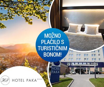 Hotel Paka 4*, Velenje: turistični bon