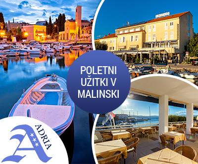 Hotel Adria 3*, Malinska, Krk: poletne počitnice