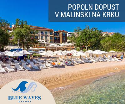 Blue Waves Resort 4*, Malinska, Krk: pomladni oddih