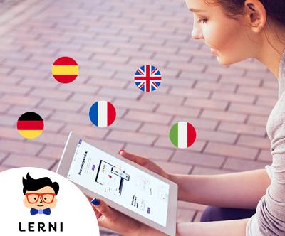 Lerni: 12-mesecni online tecaj tujega jezika
