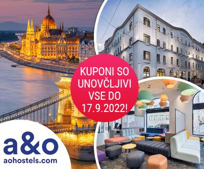 A&O hostel, Budimpešta: super cena za 3-dnevni oddih