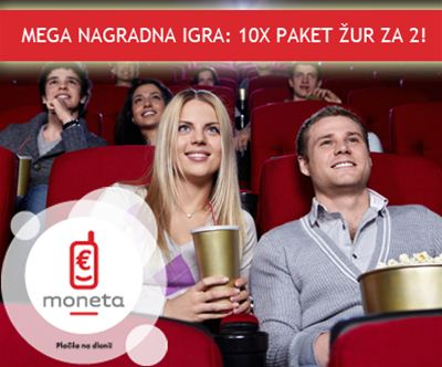 MONETA in 1 nadan omogocata vstopnico za ogled filma!