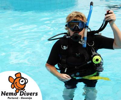 Potapljaški tecaj v Piranu z Nemo Divers