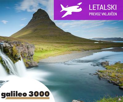 islandija, letalska karta