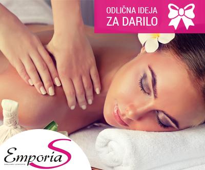 Sprostitvena, antistresna masaža celega telesa, 60 min