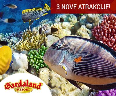 Vstopnica za nepozabni Gardaland in Sea Life akvarij