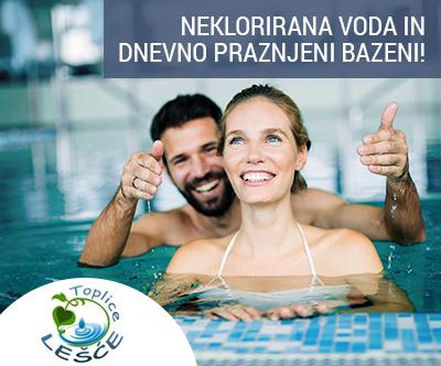 4-dnevni wellness oddih za 2 osebi v Toplicah Lešce