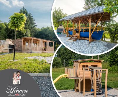 lesene hiške, počitniška vas Krone Kolpa Heaven