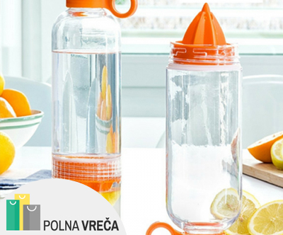Ožemalnik in steklenica 2v1 Lime Juicer (550 ml)
