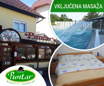 Wellness oddih za 2 osebi, Hotel Puntar 3*