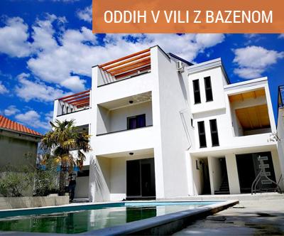 Dopust v novozgrajeni vili z bazenom; Apartmaji STAR 3*