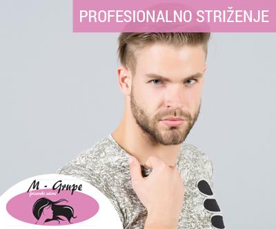 Modno moško striženje, styling