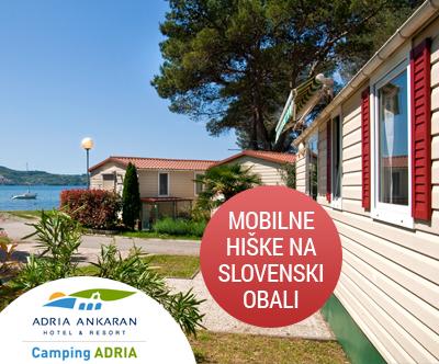 Najem mobilne hiške za 4-5 oseb v kampu Camping Adria!