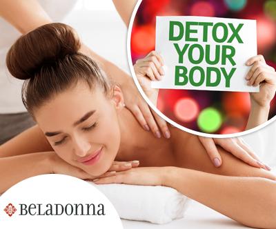 Detox sprostitvena masaža + GRATIS: detox napitek