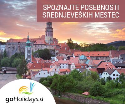 Unescova mesta in gradovi južne Ceške z goHolidays!