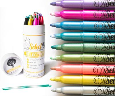 Set 12 akrilnih flomastrov za vse površine SelectBeto™