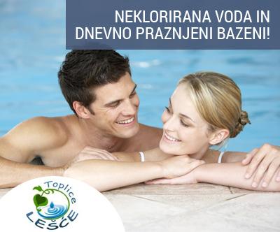 2-dnevni wellness oddih za 2 osebi v Toplicah Lešce