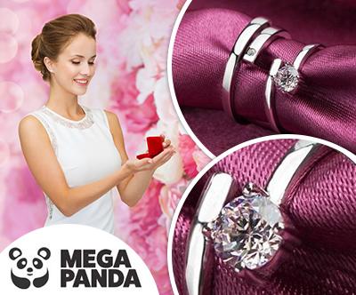 Par srebrnih prstanov Biser zanjo in zanj