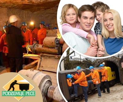 Družinski obisk podzemlja Pece z vlakom
