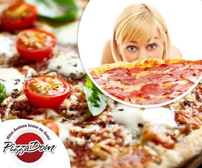 Dostava družinske pice po izbiri (50 cm) pri Pizza dom