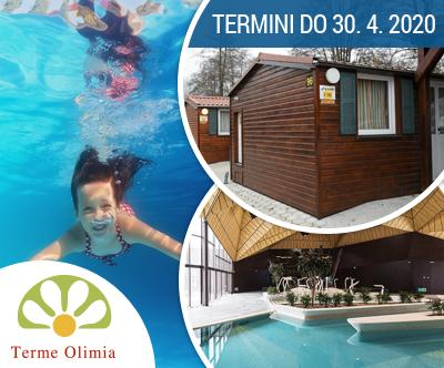 Oddih v mobilnih hiškah Kampa Natura; Terme Olimia