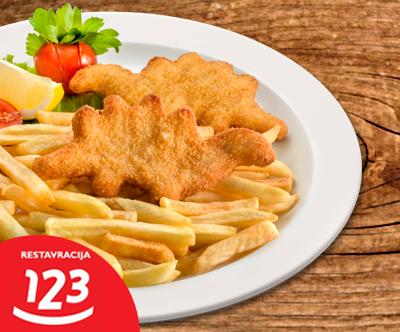 Glavna jed s prilogo v eni od Restavracij 123