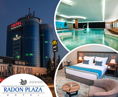 3-dnevni paket za 2 v Radon Plaza hotelu 5* v Sarajevu