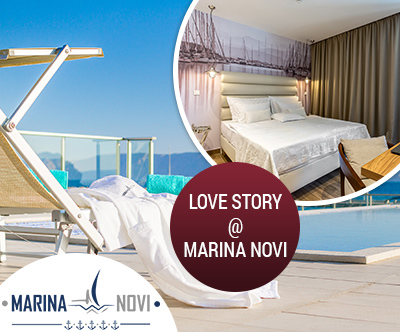 Love Story v apartmajih 5* v Novem Vinodolskem