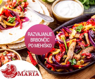 Mehiška pojedina za 2 v restavraciji Cantina Maria!