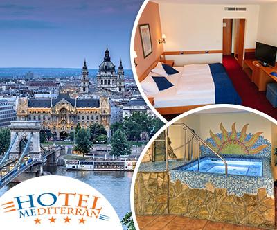 Oddih za 2 v hotelu Mediterran v Budimpešti