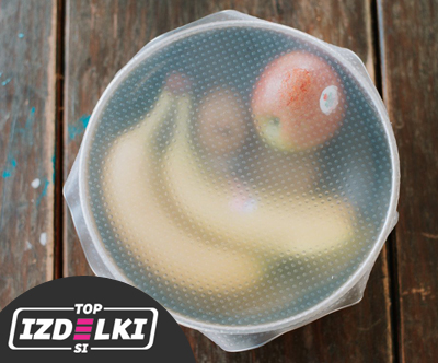 Komplet 3 silikonskih pokrovckov za hrano