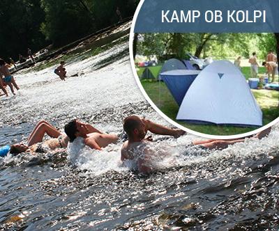 Kampiranje ob reki Kolpi, v Kampu Pezdirc v Gribljah