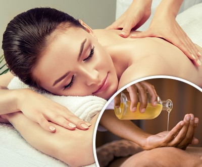 Energijska masaža hrbta z magnezijevim oljem