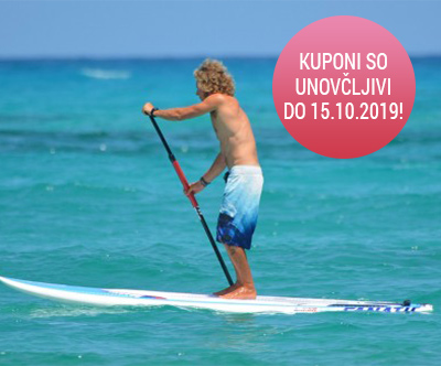 1-urni najem SUP-a na slovenski Obali