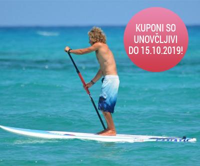 Celodnevni najem SUP-a na slovenski Obali