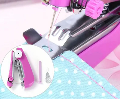 Mini prenosni rocni šivalni strojcek
