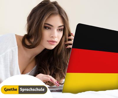 Goethe Sprachschule: online tecaj nemšcine, 6 mesecev