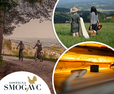 Gostišce Smogavc: paket z najemom e-koles, kosilom