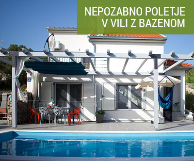 Vila Dolce Vita 4*, Vrulje: vila z bazenom pri Šibeniku