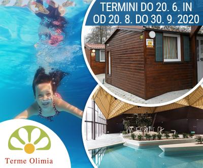 Kampa Natura 5*; Terme Olimia: oddih v mobilnih hiškah