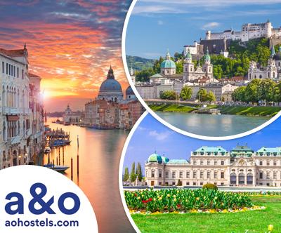 A&O hoteli, Dunaj/Benetke/Gradec/Salzburg: 2x nocitev