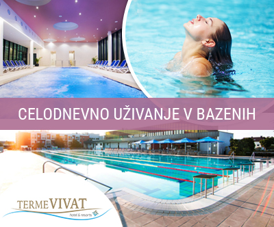 Terme Vivat: celodnevno kopanje v bazenih