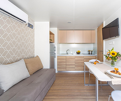 Kamp Selce, superior mobilne hišice: poletne počitnice
